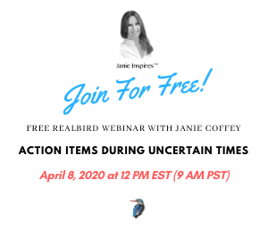 Free RealBird Webinar - Action items during uncertain times